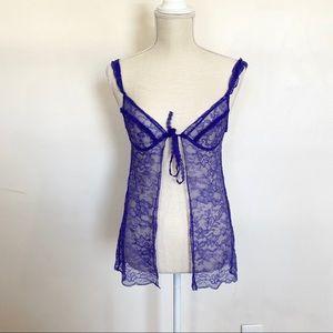 Victoria's Secret Lace Tie Front Tank Top Size S